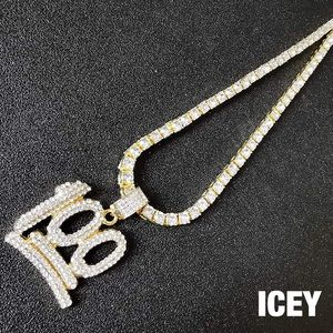18K Solid Gold Faux Diamond 100 Tennis Chain